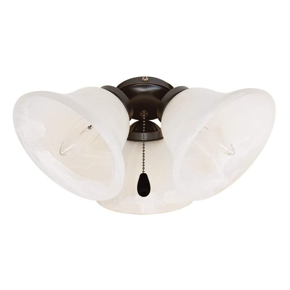 Design House 154187 3 Light Ceiling Fan Light, Oil Rubbed Bronze