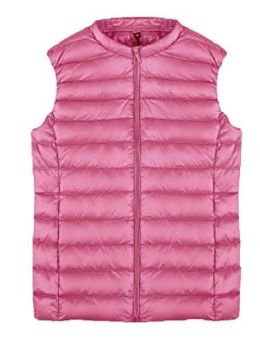 Packable Sleeveless Ultra Vest EKU Light Jacket Compact Pink Puffer Women's BxIXqwS