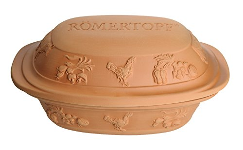 Romertopf by Reston Lloyd Rustico Series Natural Glazed Clay Cooker, Large, 4.2 ()