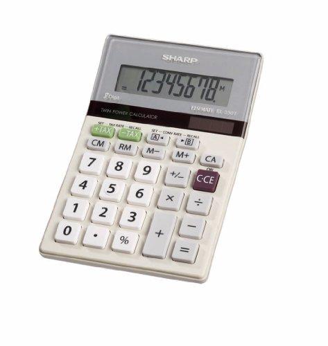 Sharp HO EL-330TB 8 Digit Solar and Battery Powered LCD Calculator