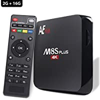 Anewish Android 5.1 TV Box M8S Plus 2G RAM 16G ROM Logic S905 Quad Core Supports Dual Band Wifi 2.4Ghz/5Ghz Bluetooth 4.0 Streaming Media Player
