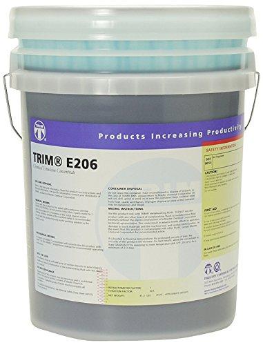TRIM Cutting & Grinding Fluids E206N/5 Long Life Emulsion, 5 gal Pail by TRIM
