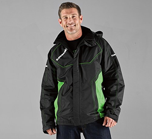 KAWASAKI WATERPROOF FABRIC COLD-BLOODED JACKET K005-0001-BKMD MEDIUM