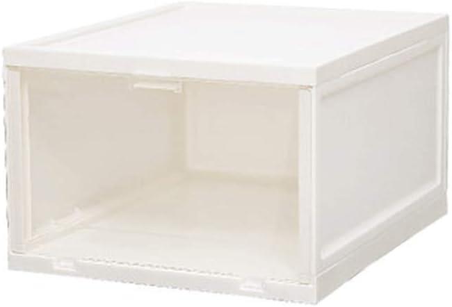 Caja de zapatos WDX para ahorrar espacio, caja de almacenamiento transparente para zapatos, 6 unidades, color blanco, tamaño: 33,5 x 27,5 x 19 cm: Amazon.es: Hogar