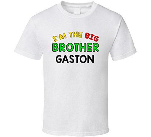 Im the Big Brother Gaston Name Sibling T Shirt XSY White