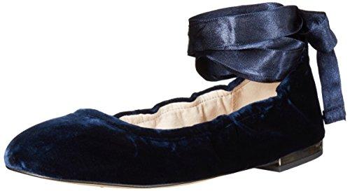 Sam Edelman Womens Fallon Ballet Flat Inky Navy Velvet