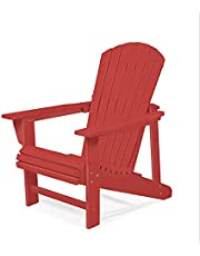 Adirondack Chair by Royale Muskoka - Extra Wide seat, Polywood Faux Wood, Waterproof and Durable, Heavy 21 kg, Last Lifetime