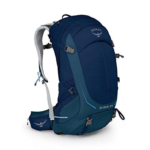 Osprey Packs Stratos 34 Backpack, Eclipse Blue, S/M, Small/Medium