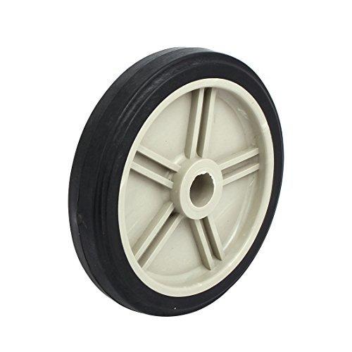 eDealMax 166mm 6.5-inch Dia 20.8mm Inner Bore Plastic Air Compressor Wheel Black by eDealMax