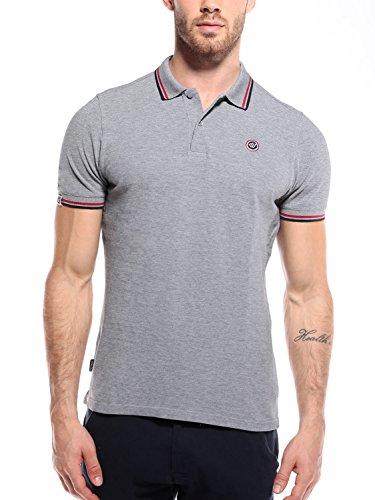 WOLDO Athletic Herren Poloshirt Polohemd Polo Shirt Hemd kurzarm Slim Fit (XL, Jackman / grau)