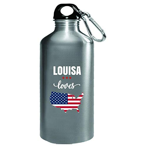 - Louisa Loves Usa 4th July Independence Day Gift - Water Bottle