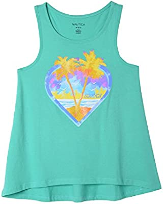 Nautica Girls Sleeveless Fashion Tank Top Shirt