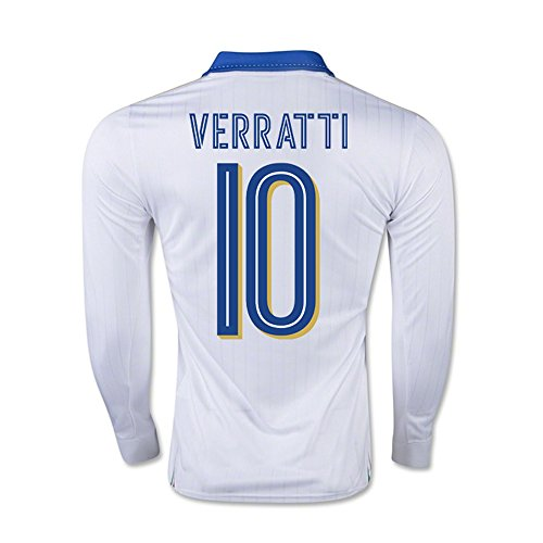 Verratti #10 Italy Away Soccer Jersey L/S UEFA Euro 2016 Long Sleeve … (M) by PUMA