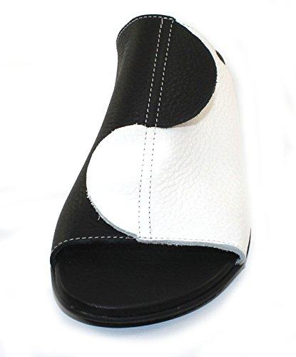 Arche Womens Aurion In Pelle Nera Noir / Blanc Vachette - Nero / Bianco - Taglia 41 M