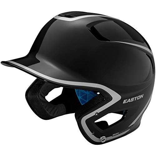 - Easton Adult Z5 2.0 High Gloss Two-Tone Batting Helmet Black/Silver 7 1/8-7.