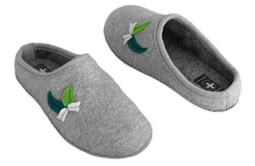 aveente - Zuecos de Terciopelo para mujer Grey (Wool)