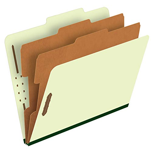 Pendaflex Classification Folders - 2 Dividers, Light Green, Letter, 10/BX (17173)