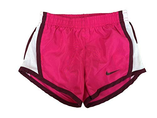 Nike Girl`s Dri-FIT Running Tempo Shorts (Active Pink(267358-A5P)/White, 6X)