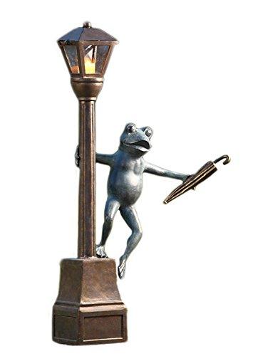 Streetlight Frog Garden Candle Lantern (Frog Candle Lantern)