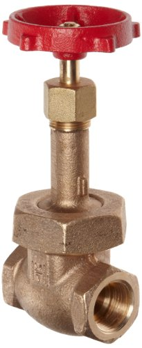 - Milwaukee Valve UP148 Series Bronze Gate Valve, Potable Water Service, Rising Stem, 1/2