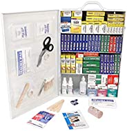 Rapid Care First Aid 80099 4 Shelf All Purpose First Aid Kit Cabinet, Class A+, Exceeds OSHA/ANSI Z308.1 2015,