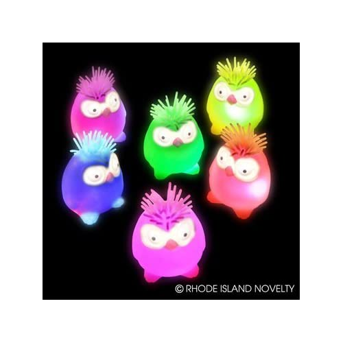Package of Four Flashing OWL Puffer/TOY/SENSORY