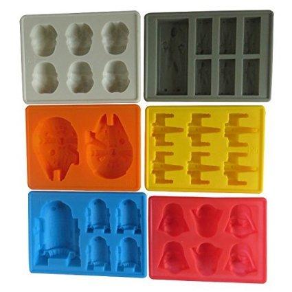 Win & Co Star Wars Tema Estilo de moldes para hielo cubes-chocolate- Conjunto de 6