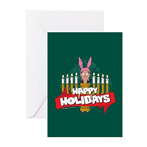 CafePress Bob's Burgers Louise Hol Greeting Card (20-pack), Note Card with Blank Inside, Birthday Card Glossy