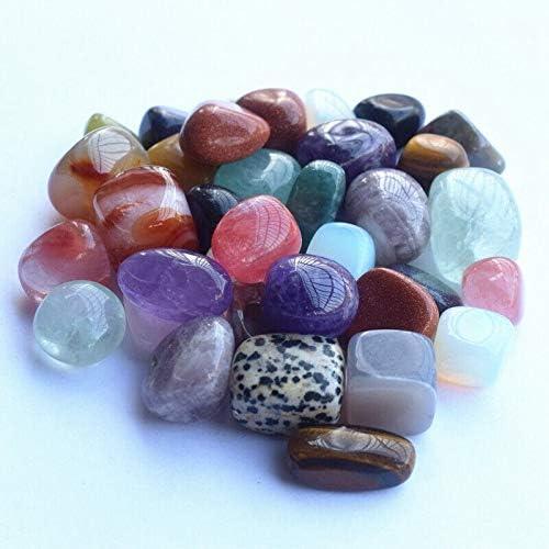 Nologo FSM-Stones 1pack 100 g Naturel Mixte irr/éguli/ère roul/ées Perles Pierre et des Pierres pr/écieuses en Vrac Rock Pierres de gu/érison