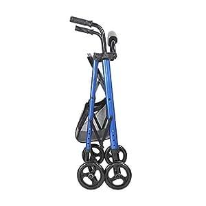 Amazon.com: Andador plegable de cuatro ruedas con altura ...