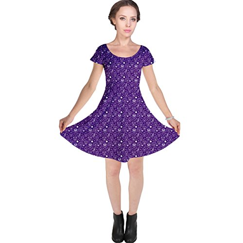 Sugar Skull The Womens of Cap CowCow Dead Dress Day Purple Sleeve POUpwf