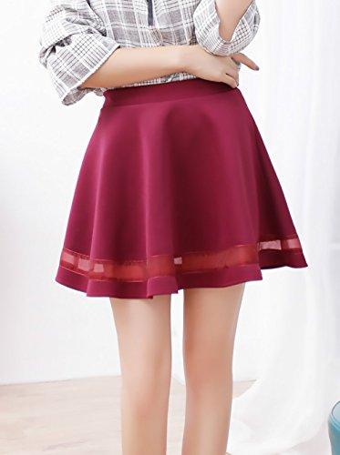 Faldas Cortas Mujer Elástica Cintura Alta Una Línea Swing Falda Plisada  Elegantes Moda Informal Basica Minifalda Color Sólido Ropa Retro  Amazon.es   Ropa y ... 0ad7395df667