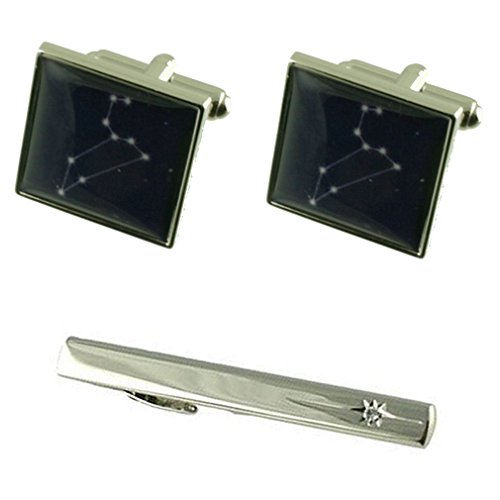 Select Gifts Leo Birthday Zodiac Star Sign Cufflinks with Tie Clip Box Set