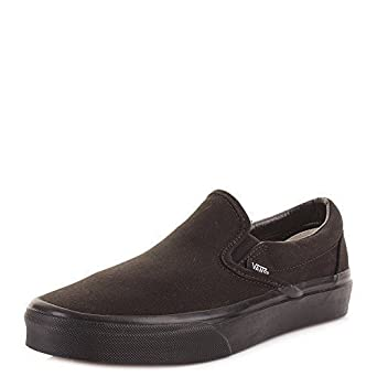 730fd9d7f0 Womens Vans Slip On All Black Classic Fashion Plimsolls Trainers Shoes SIZE  7  Amazon.co.uk  Shoes   Bags