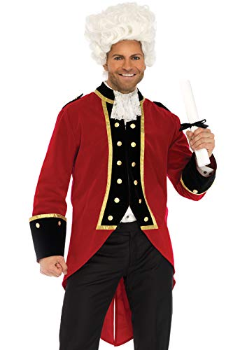 British Redcoat Halloween Costumes - Leg Avenue Men's Costume, Red,