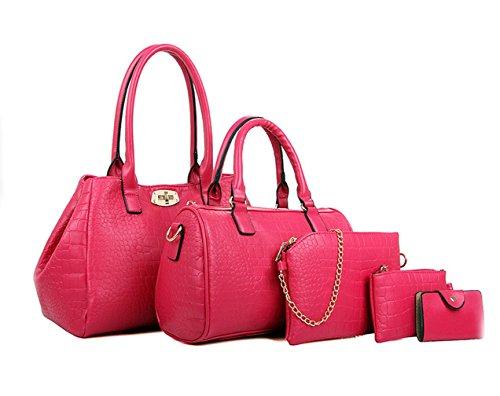 Yiyida - Bolso de asas para mujer rosa rosa (b) rosa (b)