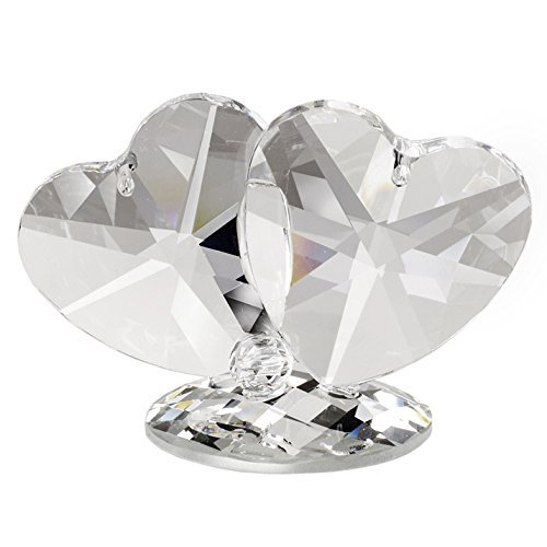 5th Avenue Collection Italian Crystal Double Hearts Figurine Swarovski