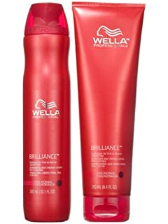 wella professionals brilliance shampoo 250ml and conditioner 200ml for fine normal hair - Shampoing Wella Cheveux Colors