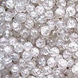 k2-accessories 50 pieces 8mm Crackle Glass Beads - Clear - A1801