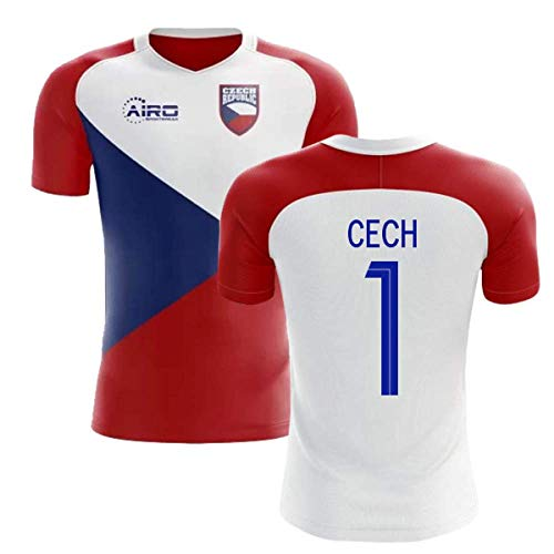 Airosportswear 2018-2019 Czech Republic Home Concept Football Soccer T-Shirt Jersey (Petr Cech 1)