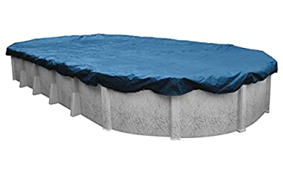 Pool Mate 351015-4PM Heavy-Duty Blue Winter Pool Cover for Oval Above Ground Swimming Pools