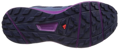 Salomon Sense Ride Trail Running Shoe - Women's Evening Blue/Crown Blue/Grape Juice 6 by Salomon (Image #3)