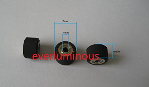 3pcs 4x10x16mm roland cutting plotter vinyl cutter pinch roller wheel Japan bearing+copper+rubber by everluminous
