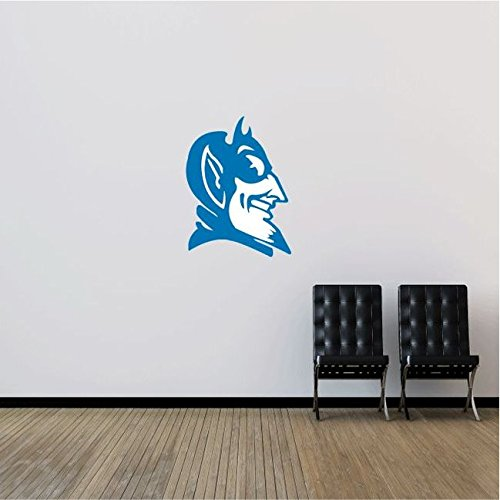 Duke Blue Devils NCAA USA Head Logo College Sport Art Wall Decor Sticker 25'' x 18''