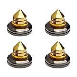 EXCEART 4pcs Gold Plated Speaker Spikes Speaker