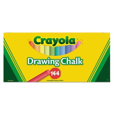 Colored Drawing Chalk, Six Each of 24 Assorted Colors, 144 Sticks/Set, Sold as 144 Each