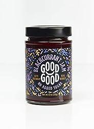 Blackcurrant Jam by Good Good - 12 oz / 330 g - Keto Friendly No Added Sugar - Keto - Vegan - Gluten Free - Di