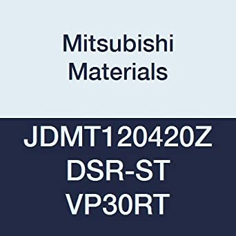 Class M Coated 0.315 Inscribed Circle 0.125 Thick Chamfer and Round Honing Mitsubishi JOMW080320ZZSR-FT VP30RT Carbide Milling Insert 0.079 Corner Radius Case of 10 Grade VP30RT