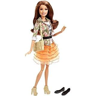 Barbie Style Teresa Doll, Floral Jacket & Orange Ruffle Skirt