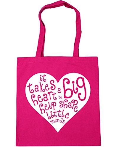 Help Tote Shopping Shape x38cm Heart Gym a Big HippoWarehouse 42cm Beach to litres 10 Minds It Bag Fuchsia Takes Little xwYqPfgC